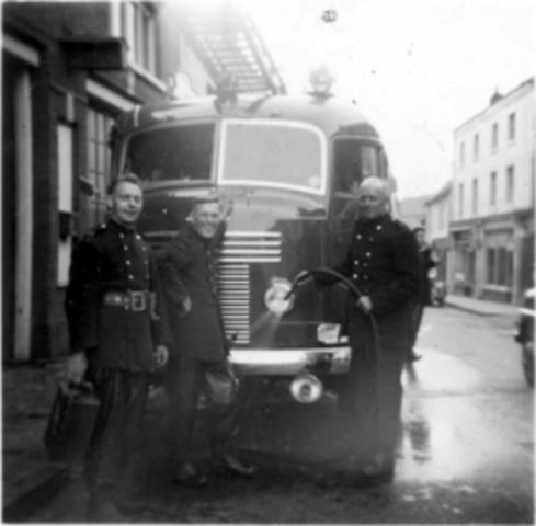 Outside Fire Station 1960s